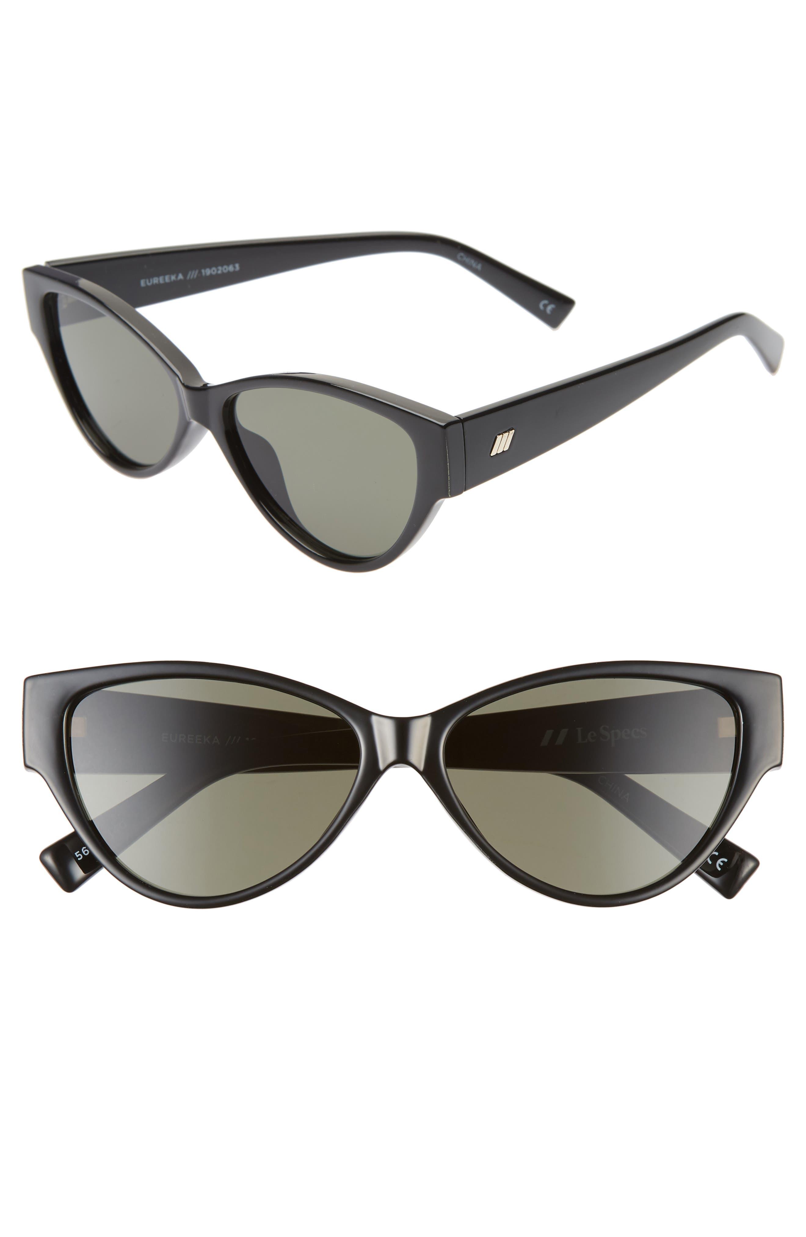 Le Specs Eureka 5m Cat Eye Sunglasses - Black/ Khaki