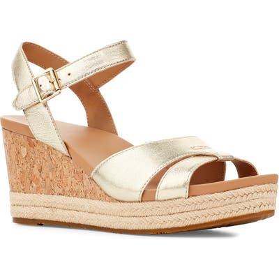UGG Cloverdale Wedge Sandal- Metallic