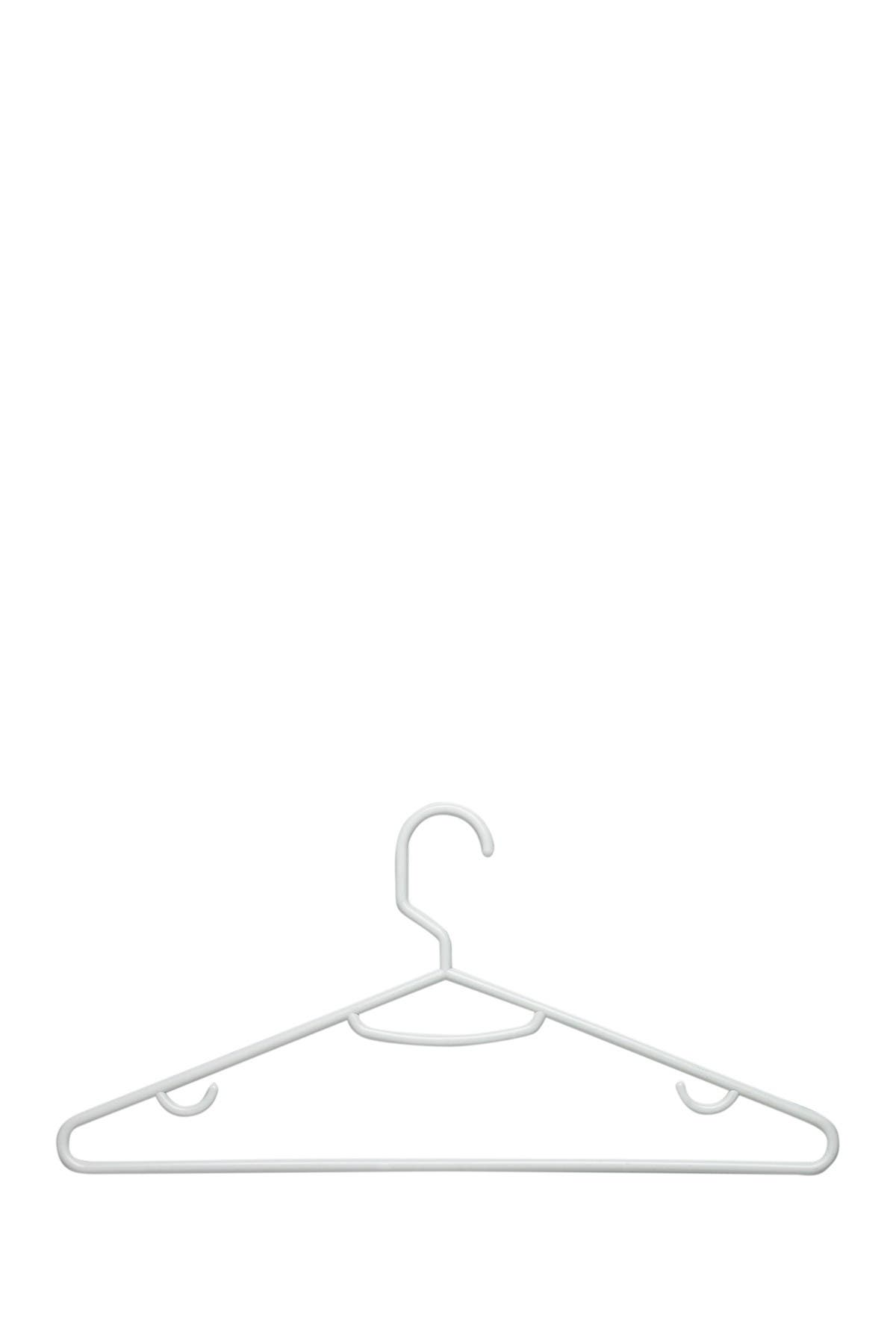 Image of Honey-Can-Do Recycled White Hangers - Pack of 60