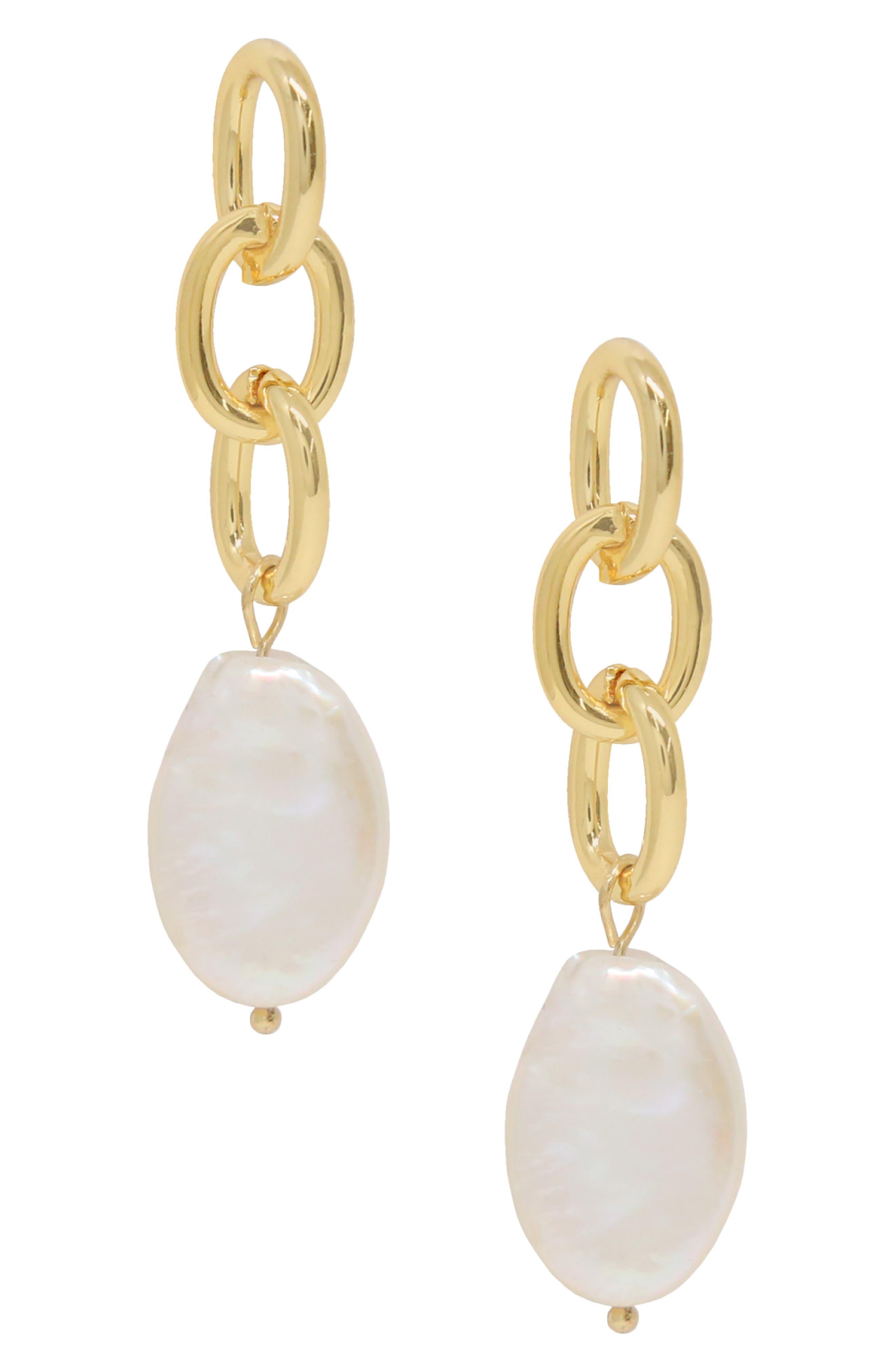 Pearl & Chain Drop Earrings