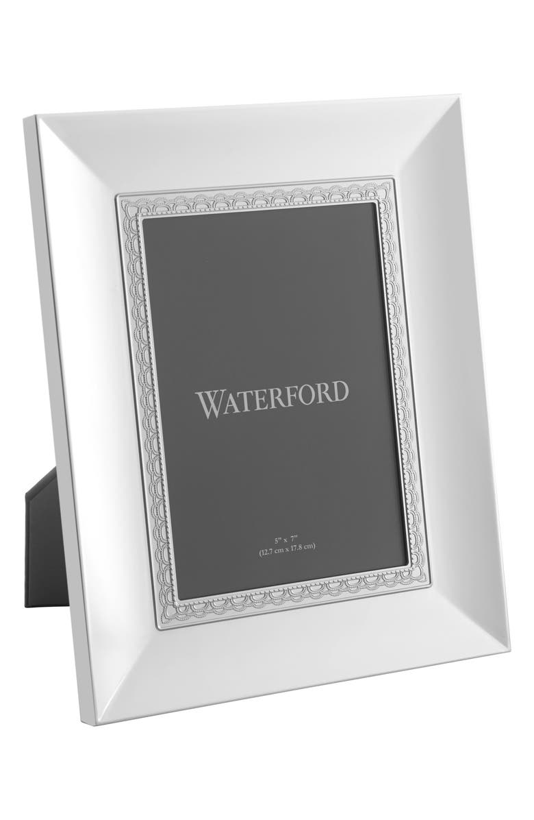 WATERFORD Lismore Lace Picture Frame, Main, color, CRYSTAL