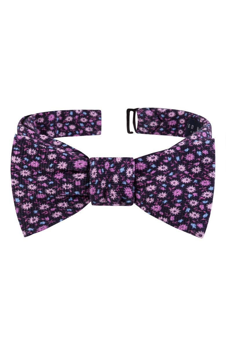 TED BAKER LONDON Small Flower Silk Bow Tie, Main, color, PINK