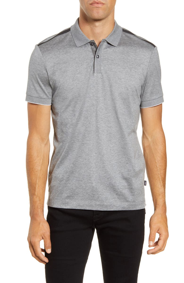 BOSS Philipson Cotton Polo Shirt, Main, color, 041