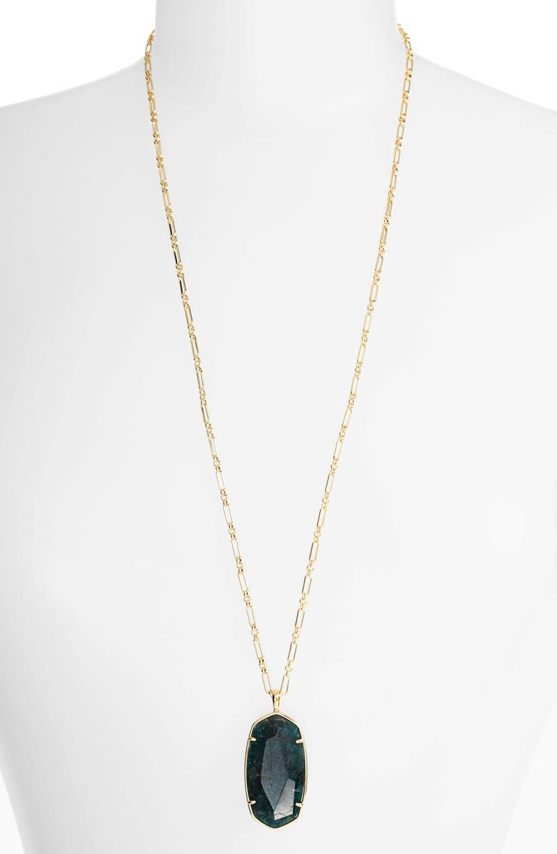 KENDRA SCOTT Reid Long Faceted Pendant Necklace, Main, color, 300