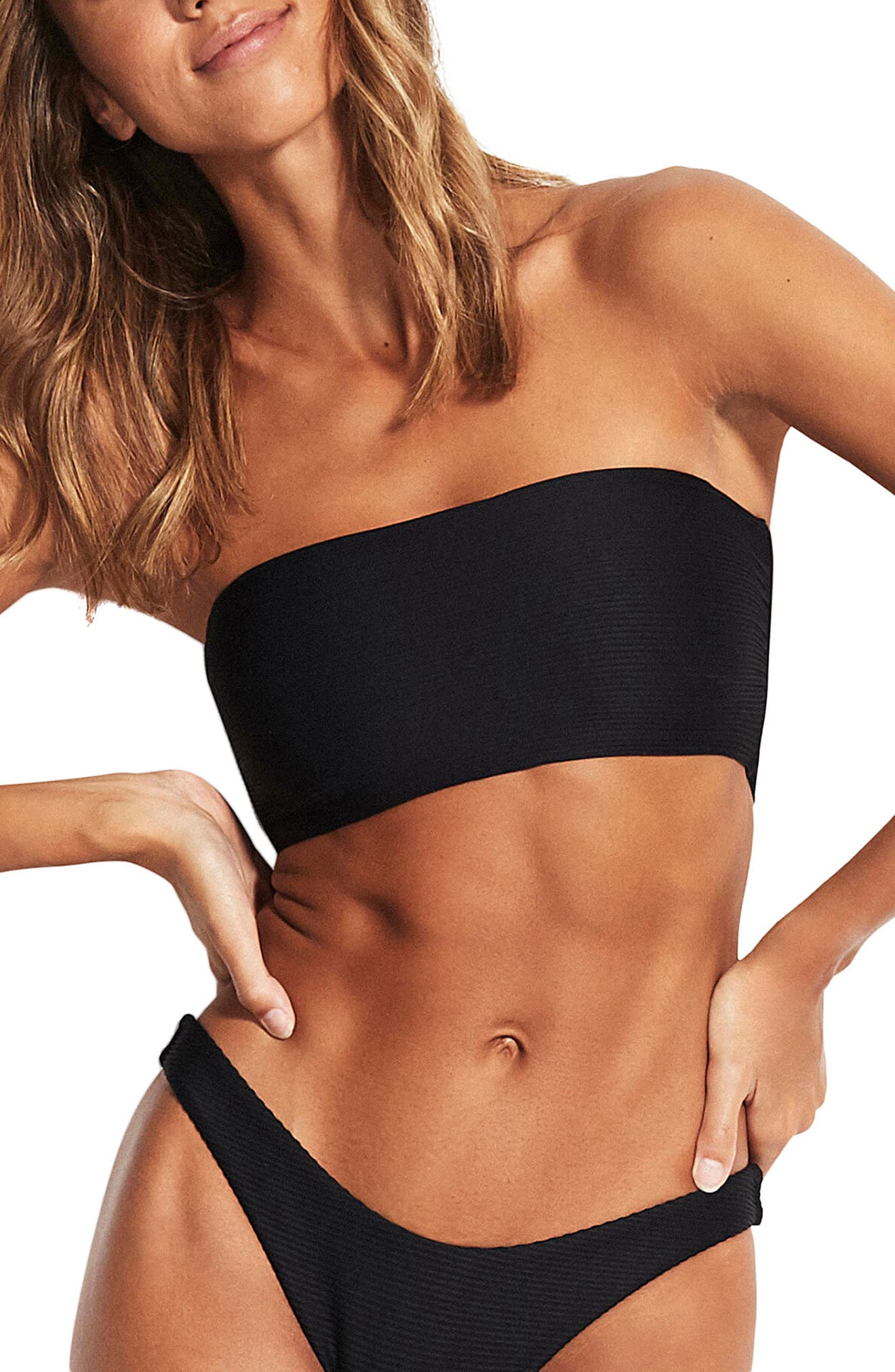Seafolly Essential Tube Bikini Top, US / 14 AU - Black