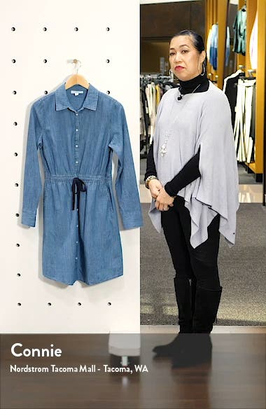 Long Sleeve Chambray Shirtdress, sales video thumbnail