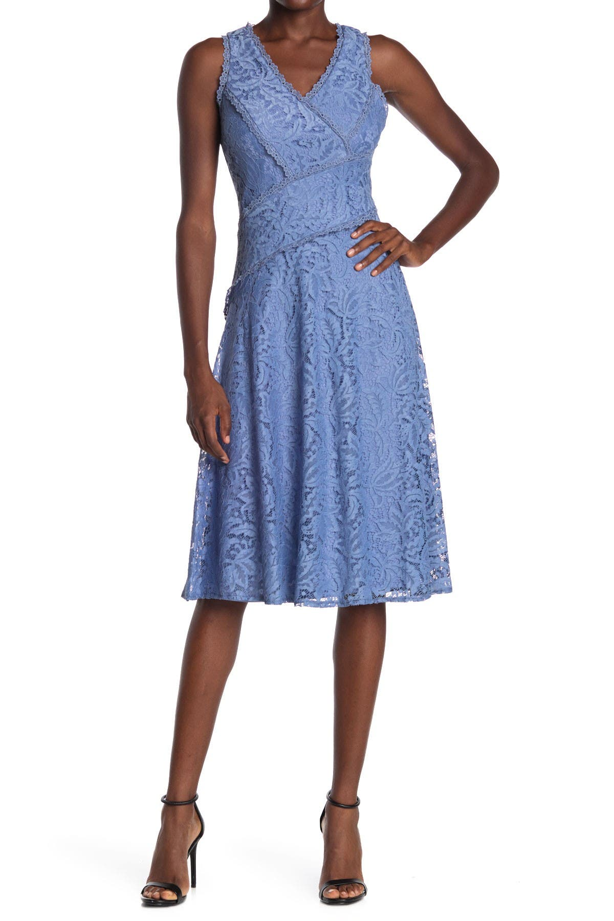 Image of Taylor Asymmetrical Midi Lace Dress