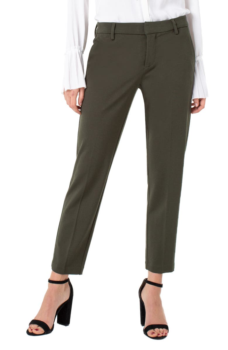LIVERPOOL Kelsey Knit Trousers, Main, color, OLIVE BRANCH