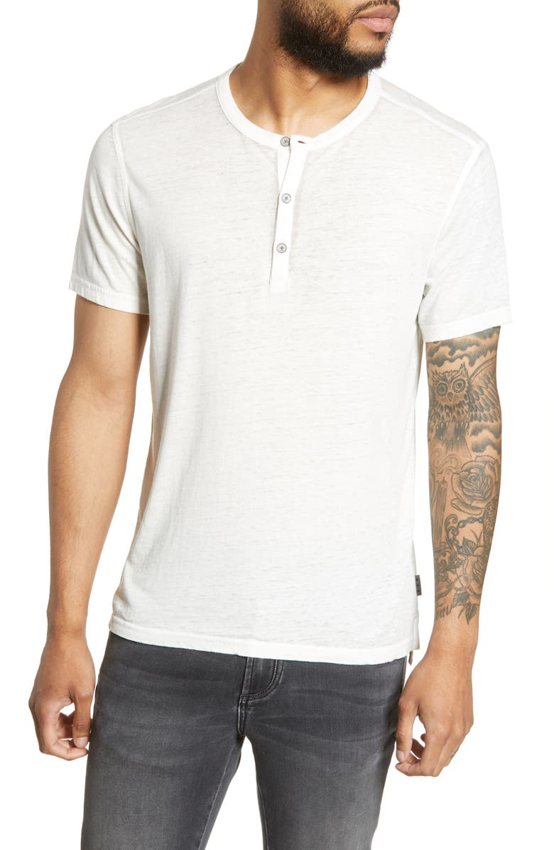 JOHN VARVATOS STAR USA Regular Fit Henley T-Shirt, Main, color, SALT
