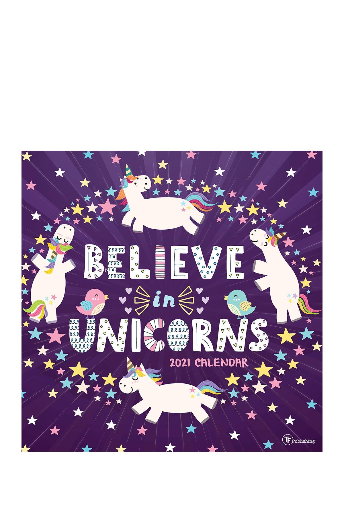 Image of TF Publishing 2021 Unicorns Wall Calendar