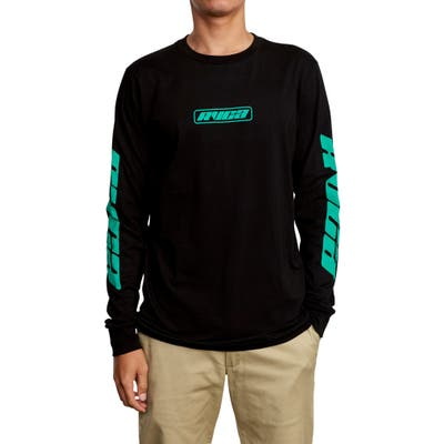 Rvca Warehouse Long Sleeve T-Shirt, Black