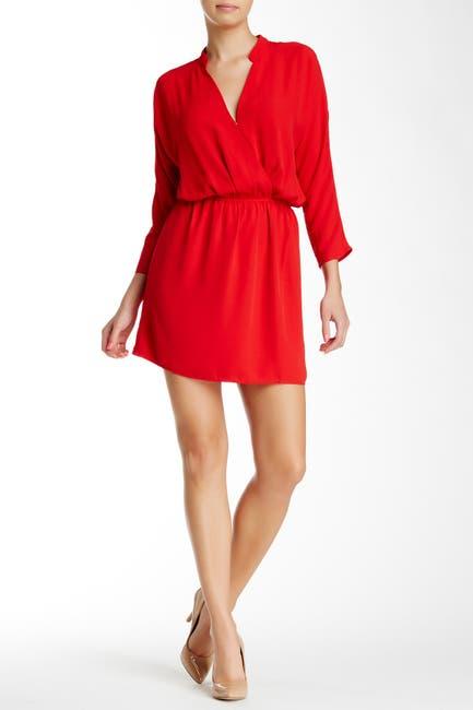 Image of Eight Sixty Crepe Surplice Dress