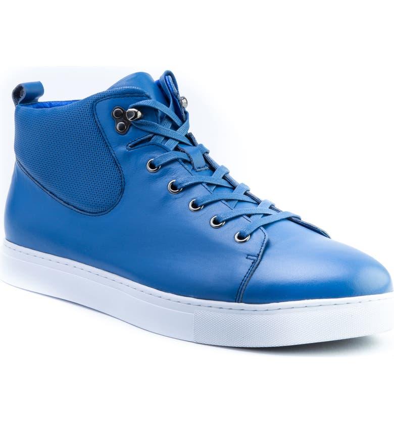 BADGLEY MISCHKA COLLECTION Badgley Mischka Sanders Sneaker, Main, color, BLUE LEATHER