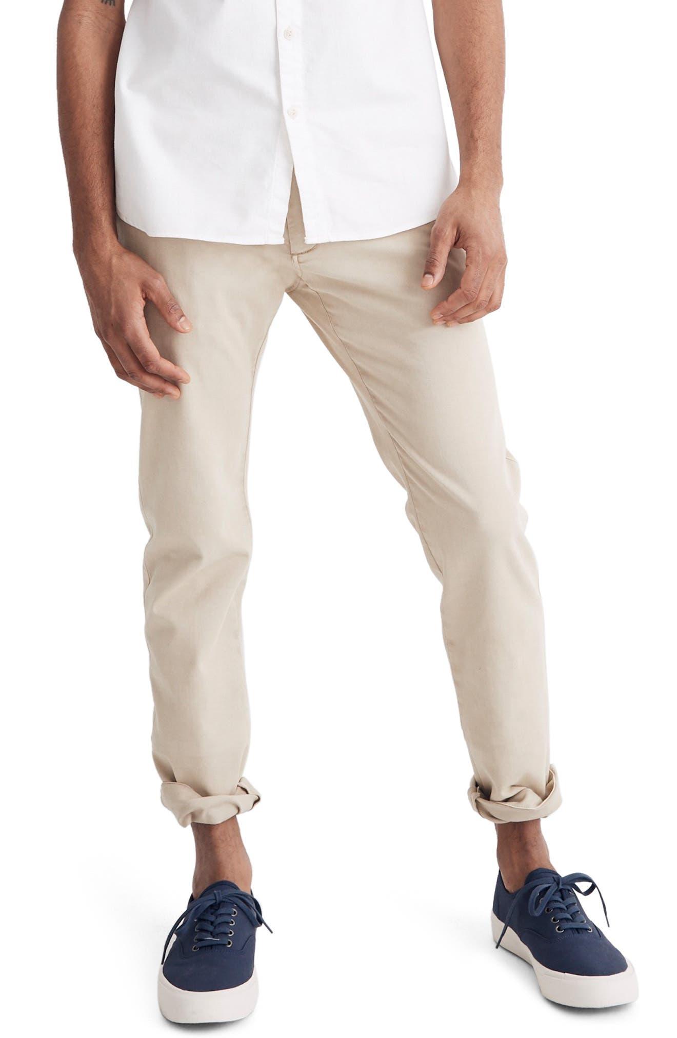 Madewell Penn Slim Fit Chino Pants, Beige