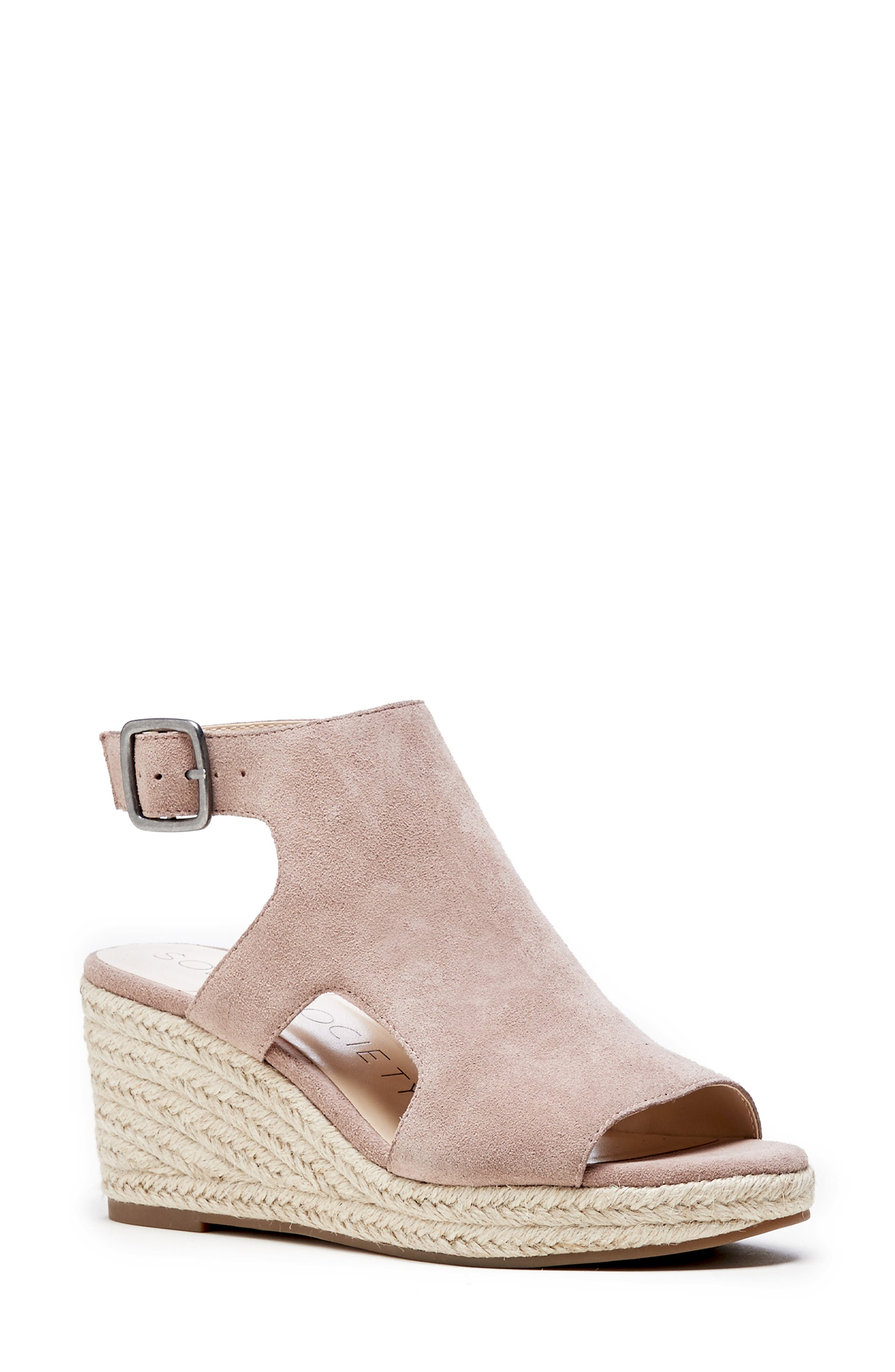 Sole Society Camreigh Espadrille Wedge- Pink