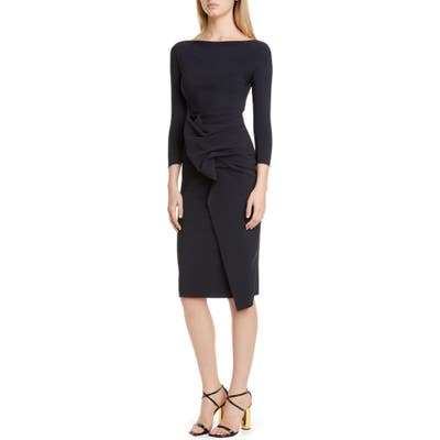 Chiara Boni La Petite Robe Kimi Ruffle Cocktail Dress, US / 46 IT - Black