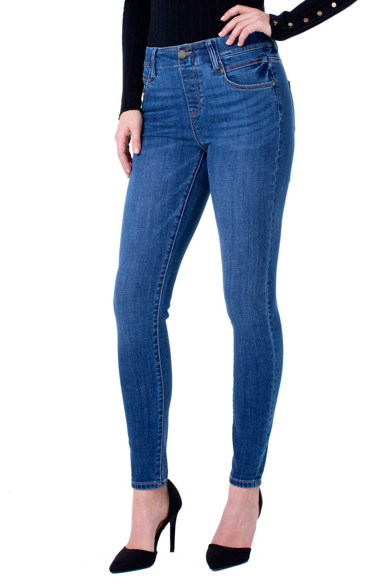 LIVERPOOL Gia Glider High Waist Skinny Jeans, Main, color, CARTERSVILLE