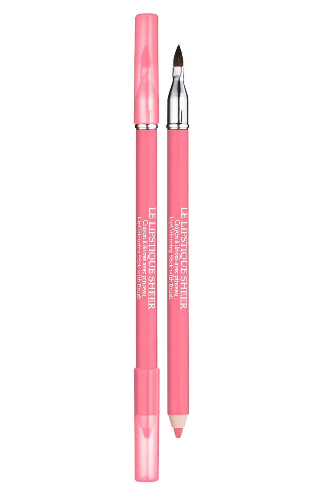 Le Lipstique Dual Ended Lip Pencil with Brush, Main, color, ROUGELLE