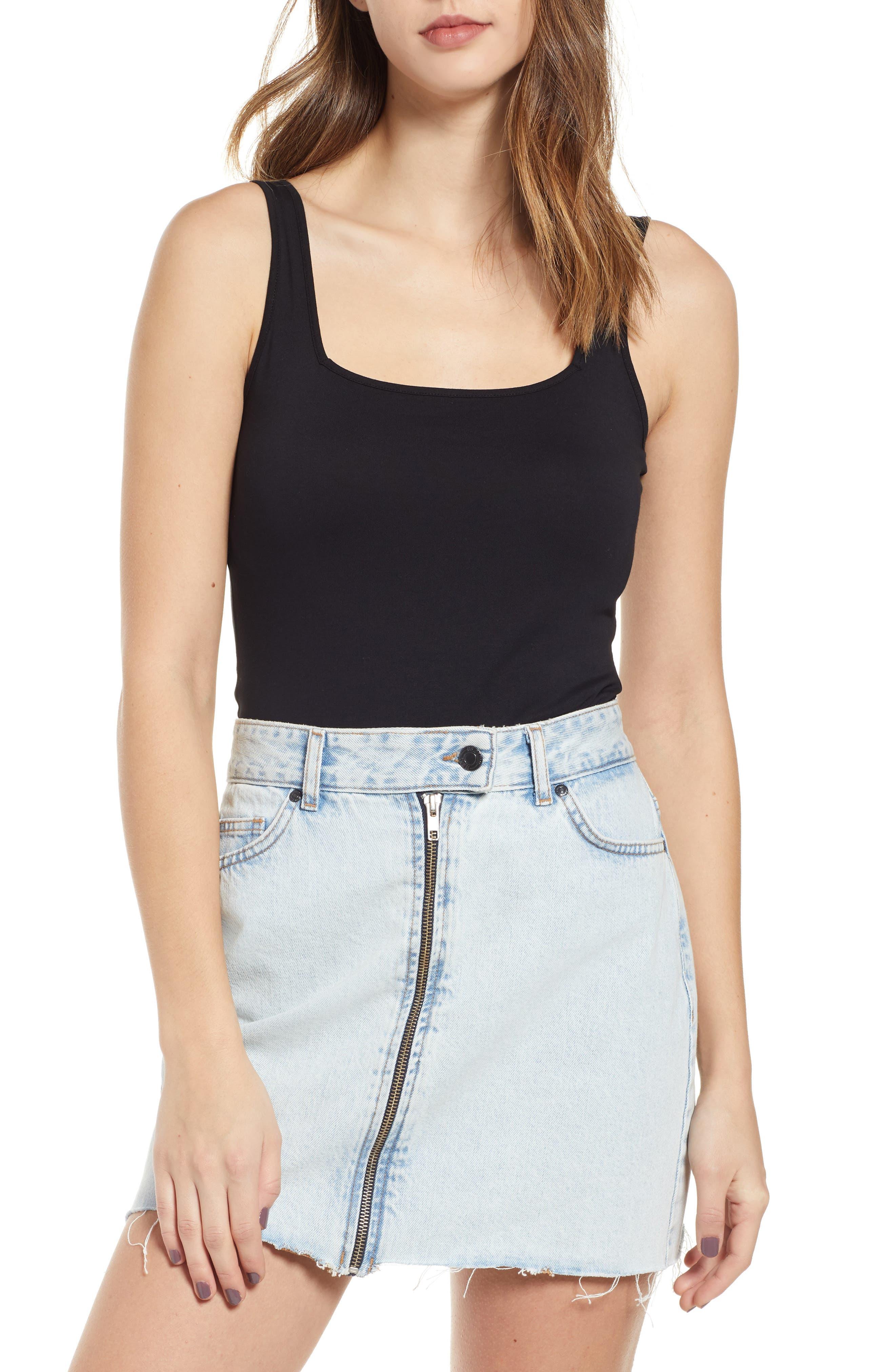 BP. Square Neck Bodysuit (Regular & Plus Size) | Nordstrom