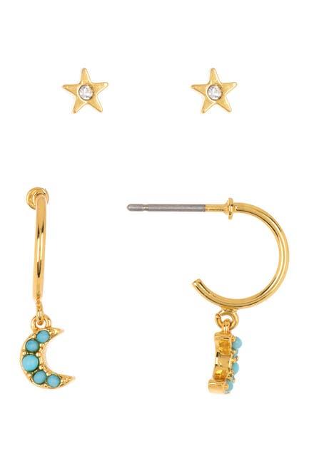 Image of BAUBLEBAR Celestial Stud & Hoop Earrings Set