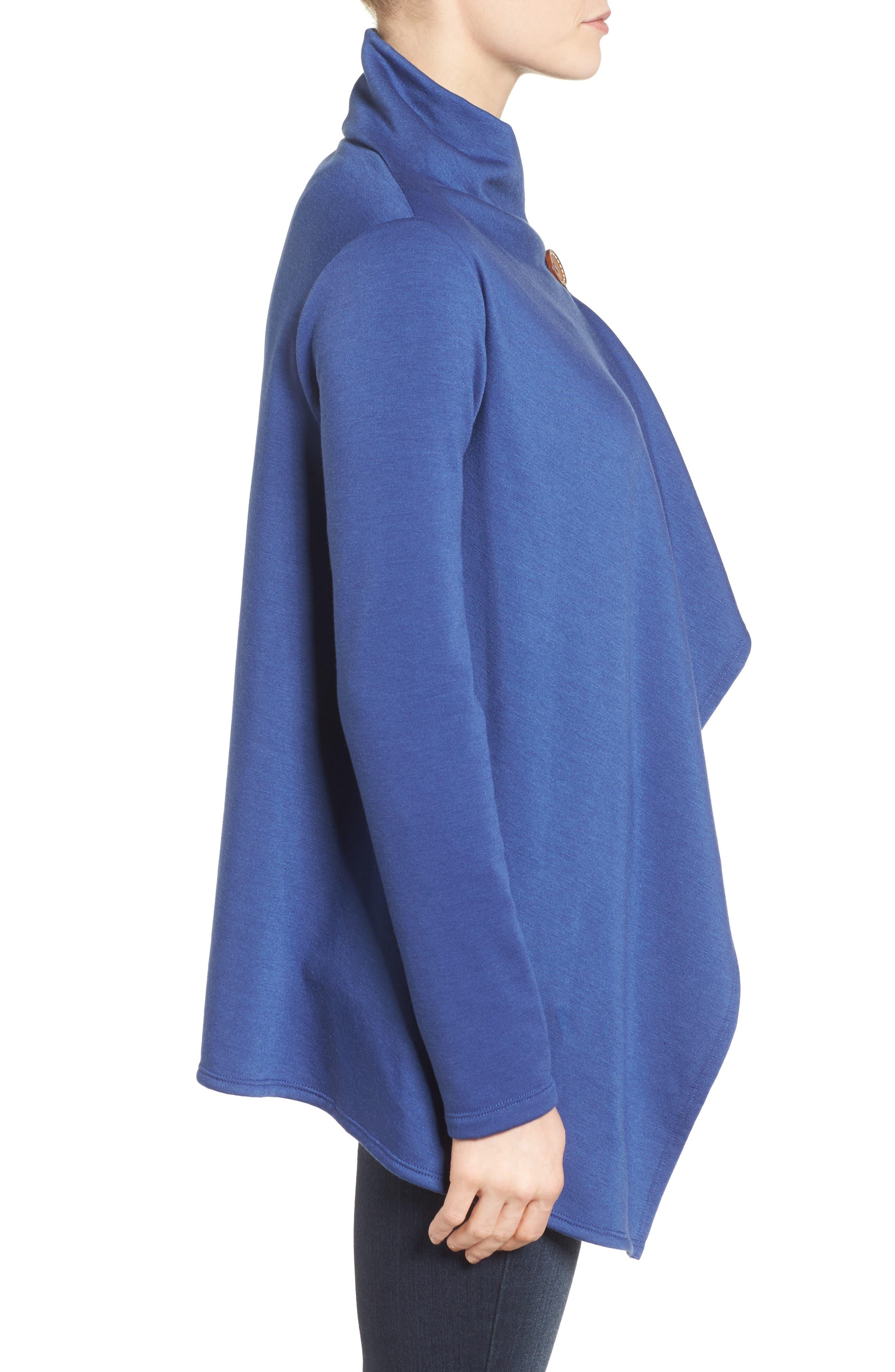 ,                             One-Button Fleece Wrap Cardigan,                             Alternate thumbnail 161, color,                             479