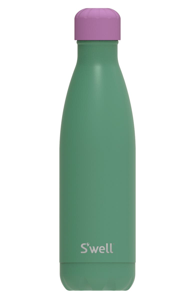 S'WELL Love You So Matcha 17-Ounce Insulated Stainless Steel Water Bottle, Main, color, GREEN