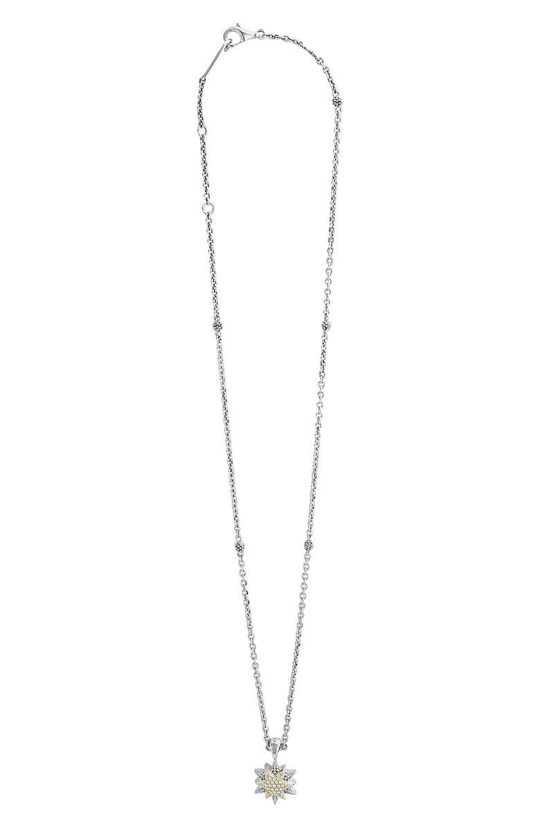 LAGOS North Star Small Diamond Pendant Necklace, Main, color, 040