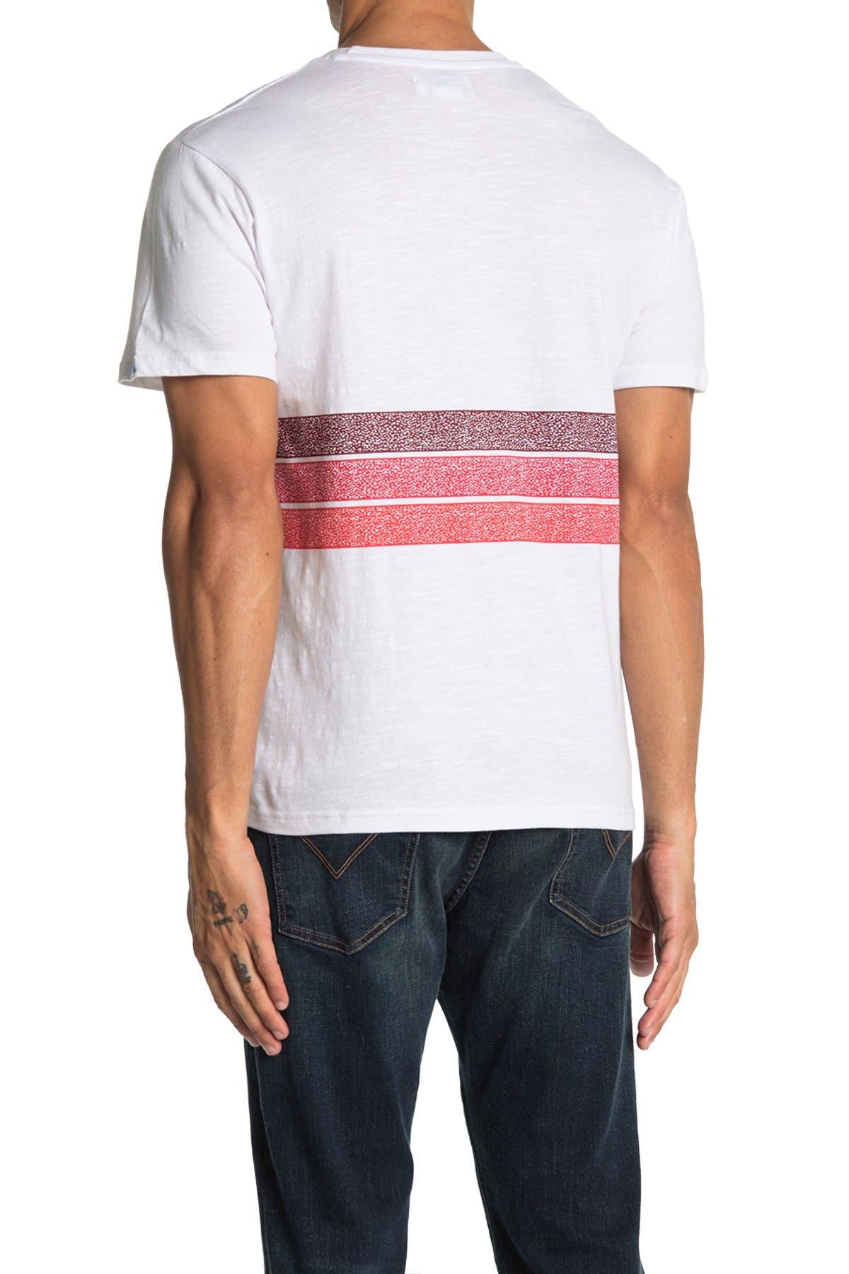 Image of Mr. Swim Hibiscus Stripe Pocket Crew Neck T-Shirt