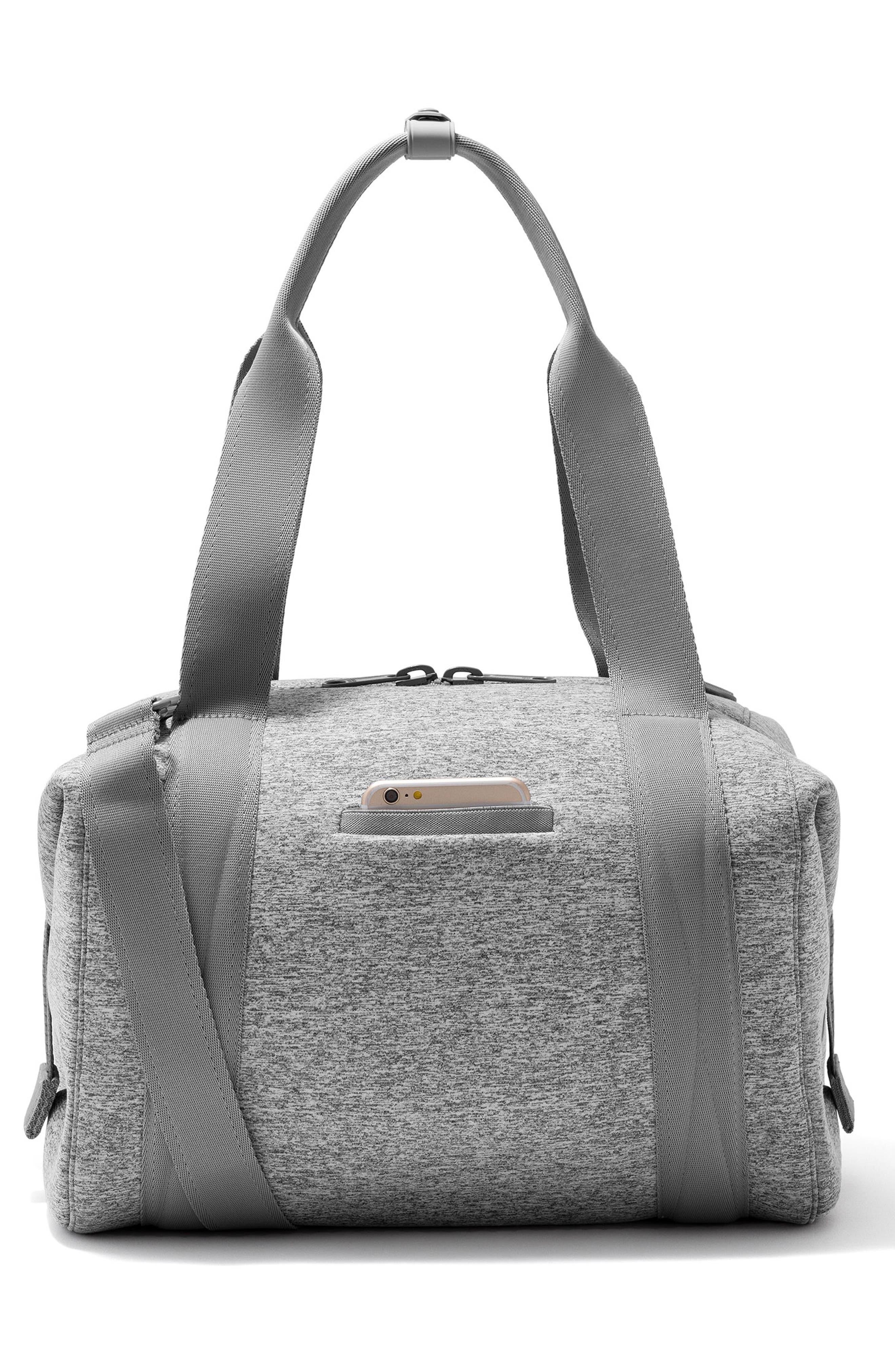 ,                             365 Medium Landon Neoprene Carryall Duffle Bag,                             Alternate thumbnail 5, color,                             HEATHER GREY