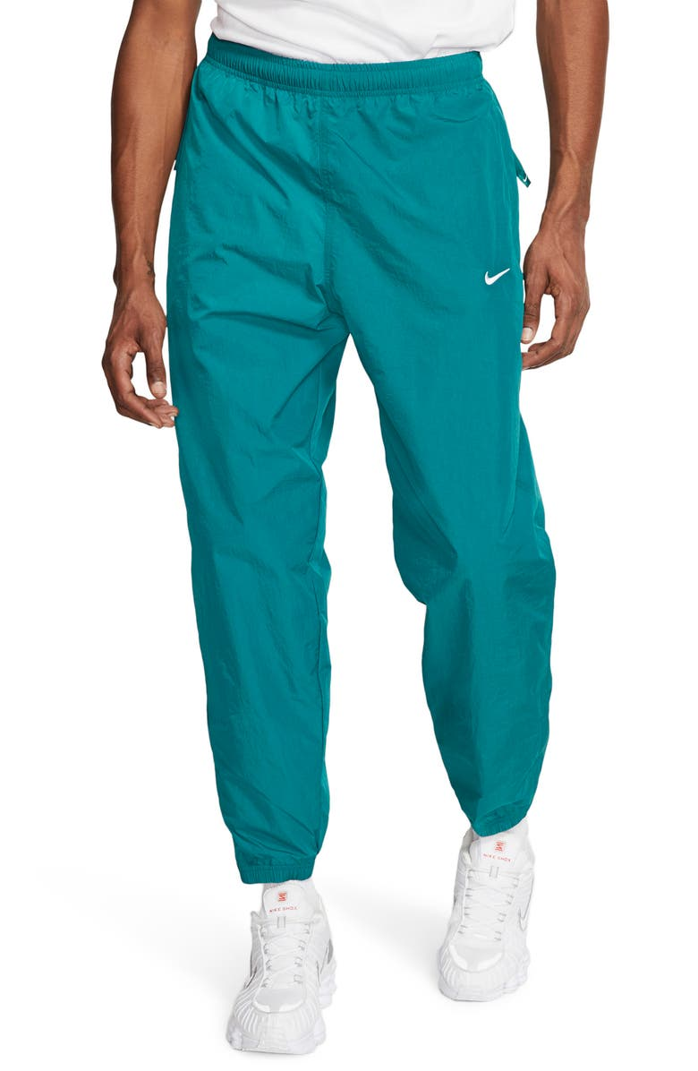 NIKE NikeLab Collection NRG Nylon Track Pants, Main, color, GEODE TEAL