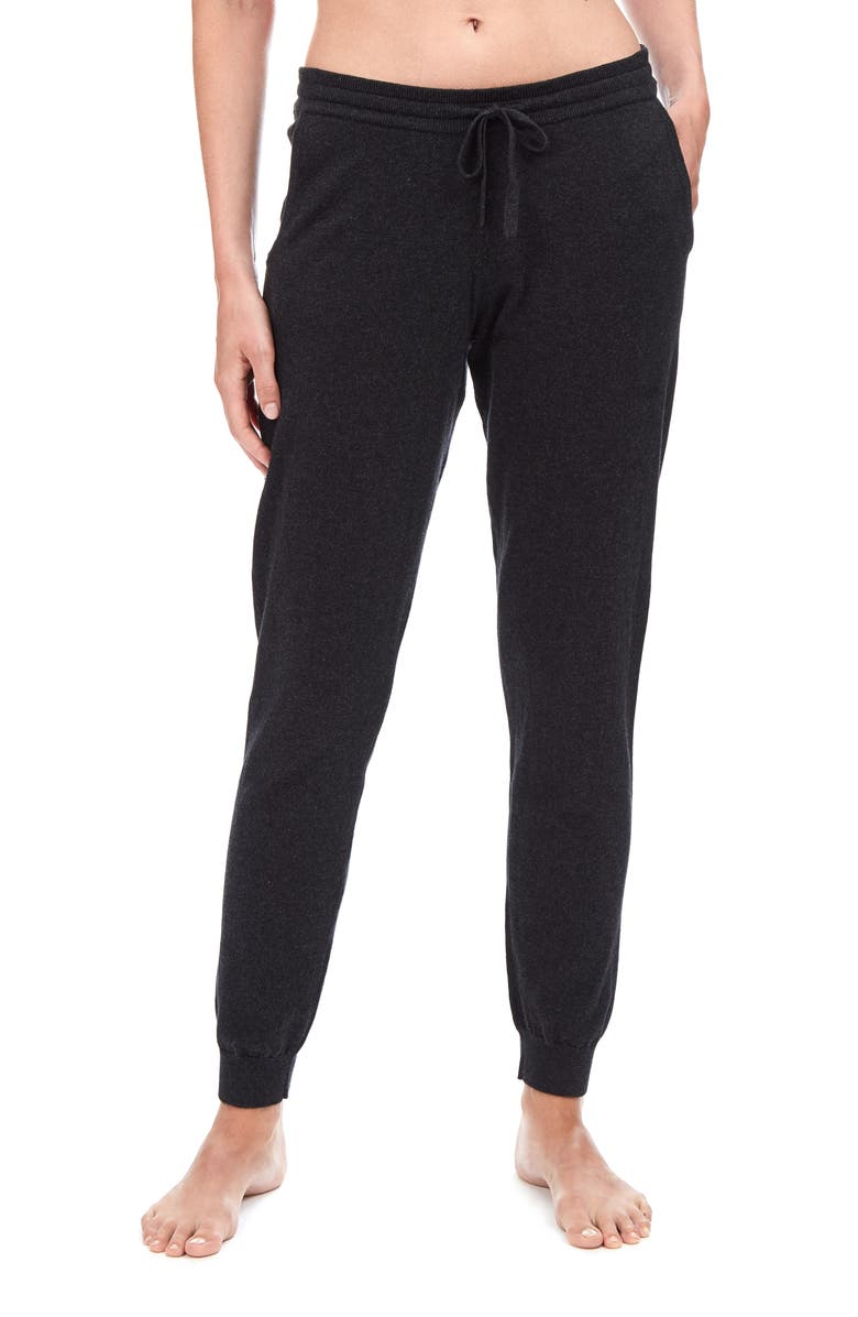 THE WHITE COMPANY Cotton & Cashmere Jogger Pants, Main, color, DARK CHARCOAL MARL