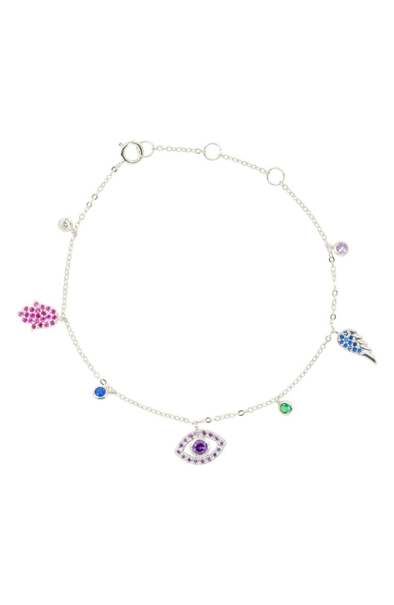 RAGEN JEWELS Charmed Bracelet, Main, color, SILVER