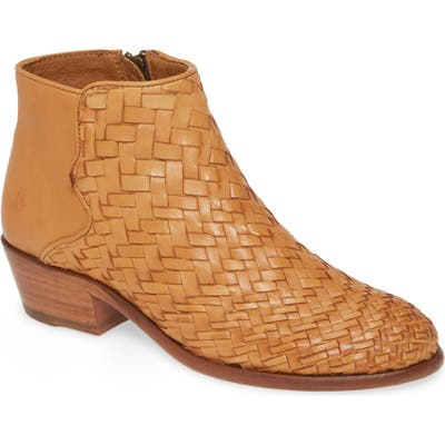 Frye Carson Woven Bootie- Brown