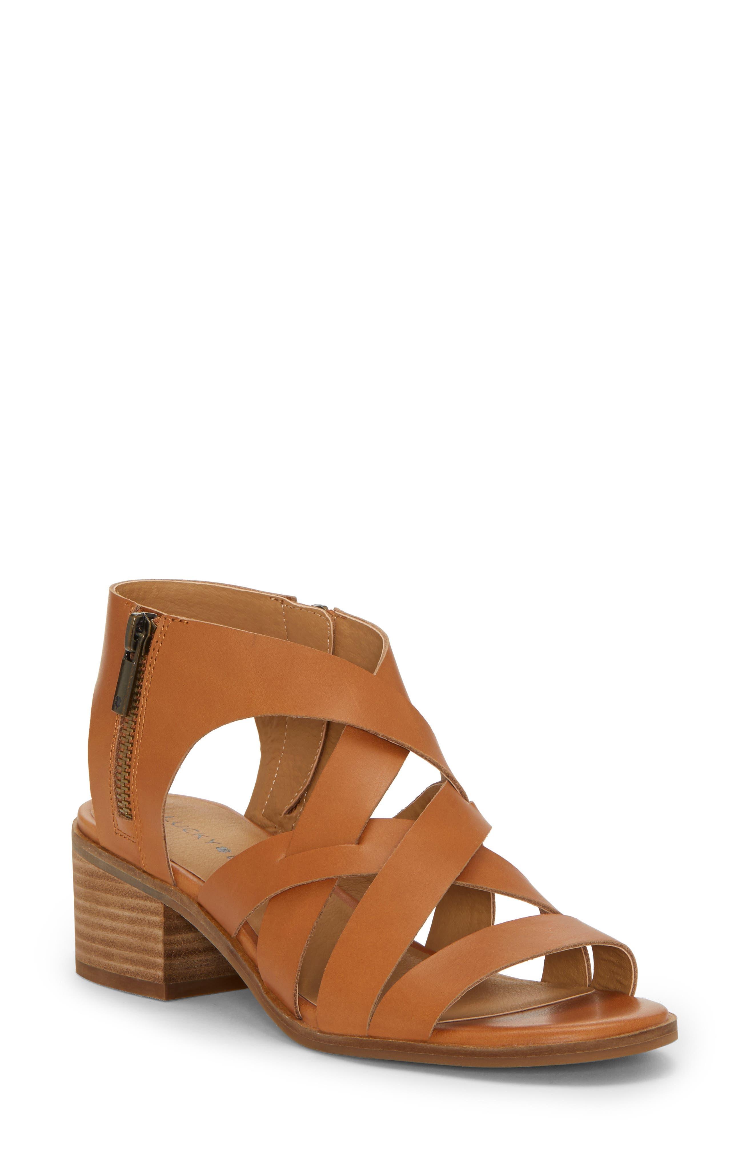 Nayeli Sandal, Main, color, CARAMEL LEATHER