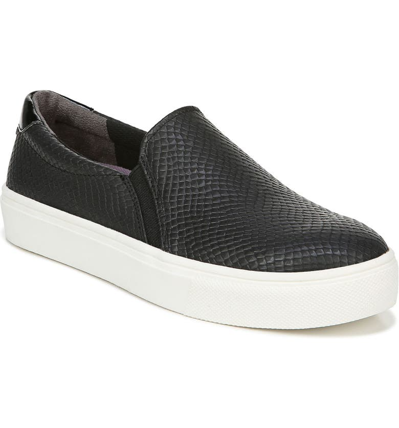 DR. SCHOLL'S Nova Slip-On Sneaker, Main, color, BLACK FAUX LEATHER