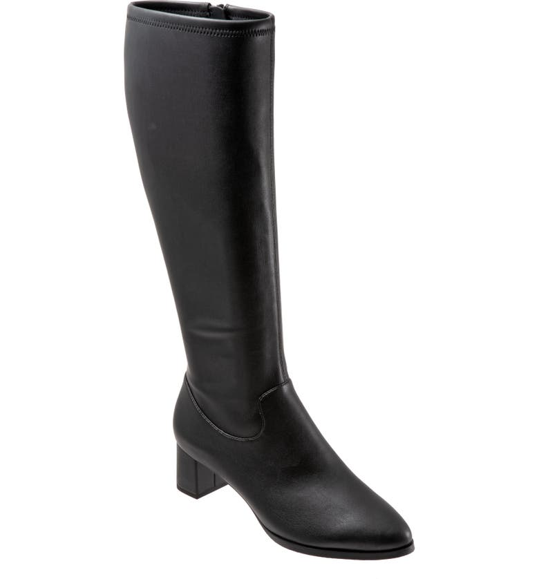 TROTTERS Kacee Boot, Main, color, BLACK FAUX LEATHER
