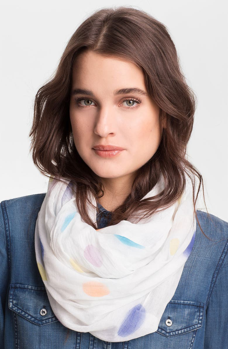 MADE OF ME Accessories 'Bright Lights Loop' Infinity Scarf, Main, color, 100