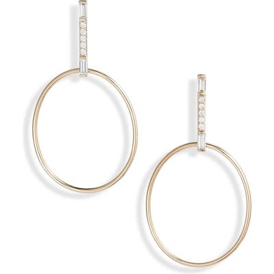 Nadri Mercer Frontal Hoop Earrings
