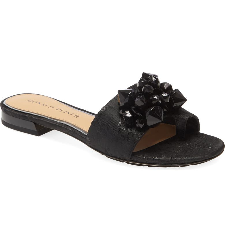 DONALD PLINER Frances Slide Sandal, Main, color, BLACK FABRIC