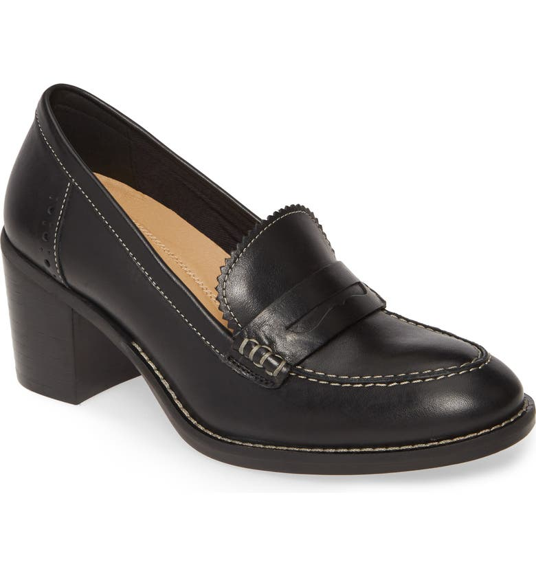 HUSH PUPPIES<SUP>®</SUP> Hannah Penny Pump, Main, color, BLACK LEATHER