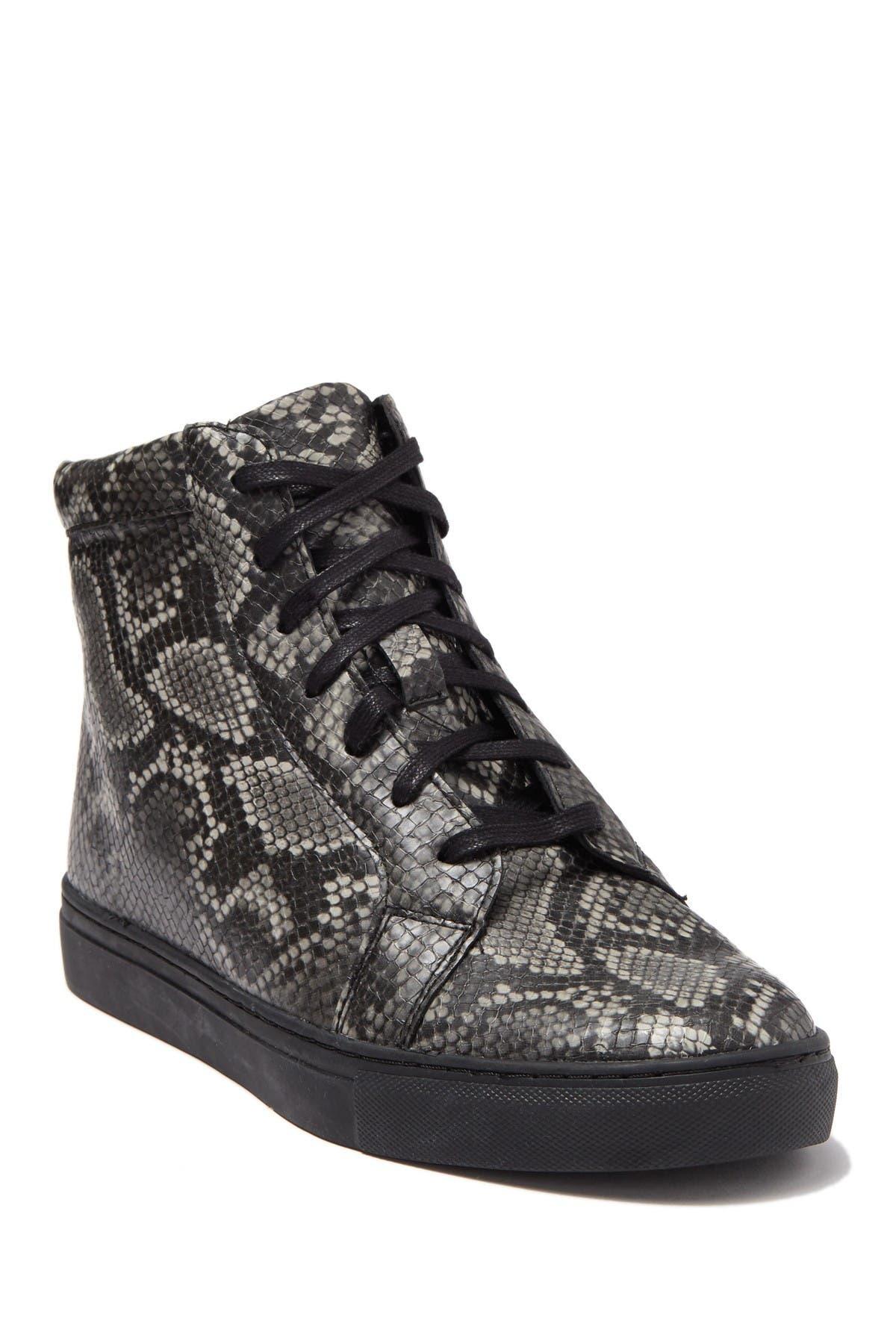 Image of MAISON FORTE Odesa Snakeskin Embossed Sneaker