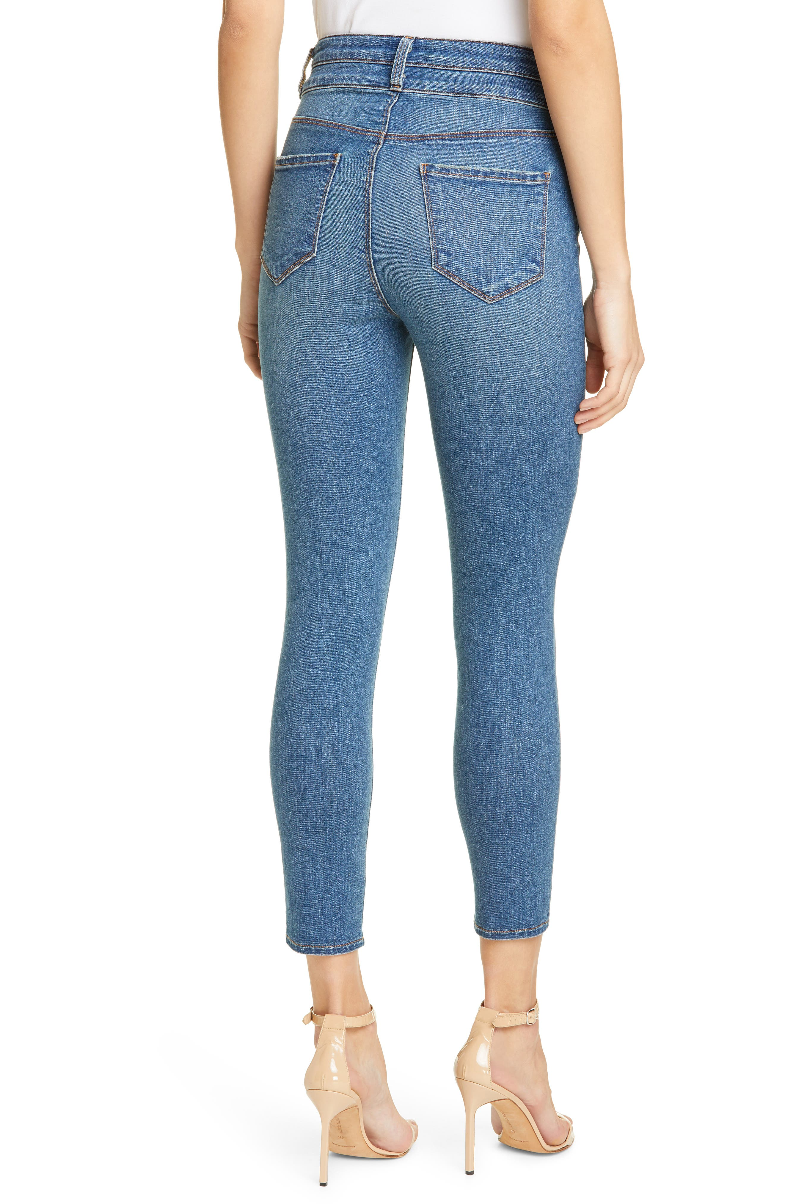 L'agence Jeans Peyton High Waist Crop Skinny Jeans