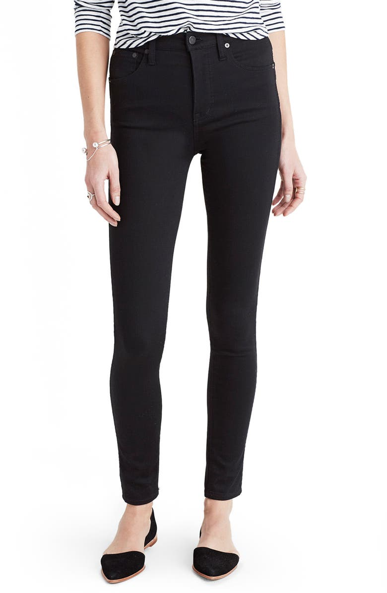 MADEWELL 10-Inch High Rise Skinny Jeans, Main, color, CARBONDALE