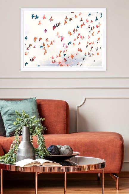 Image of Wynwood Studio Birds in the Fall Animals Framed Wall Art