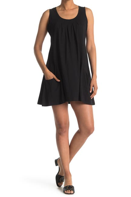 Image of Papillon Pleated Scoop Neck Dress