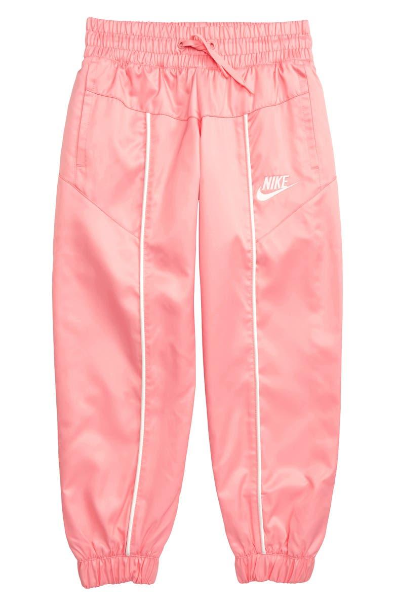 NIKE Sportswear Track Pants, Main, color, BLEACHED CORAL/ SAIL/ SAIL