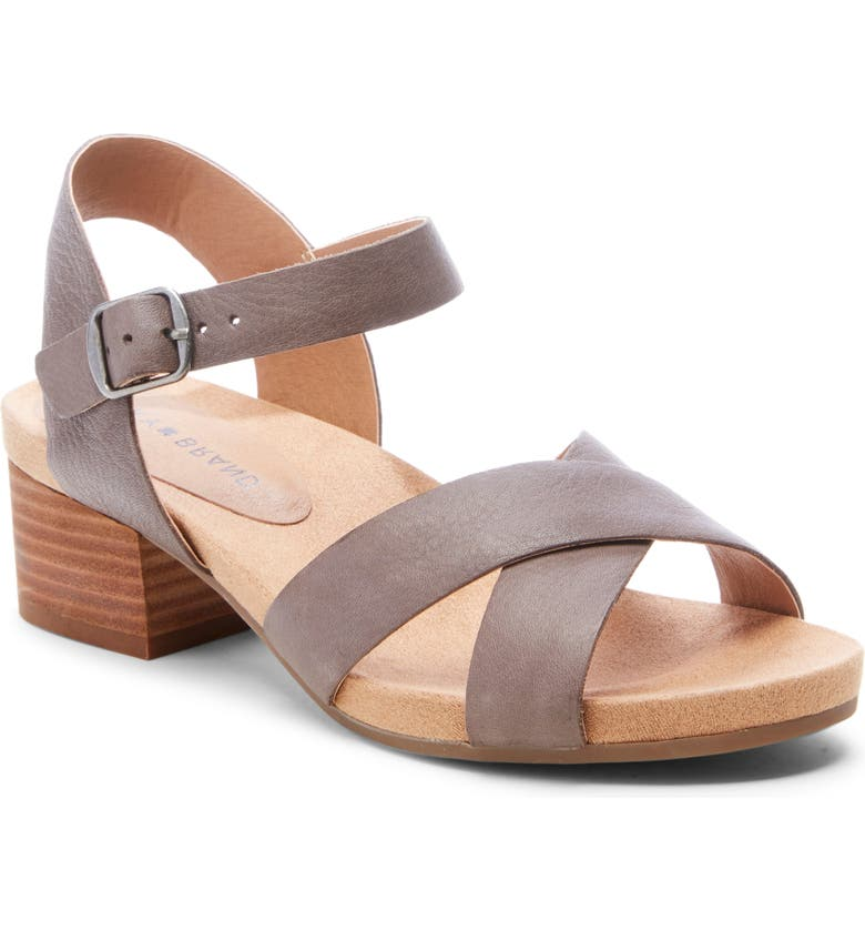 LUCKY BRAND Philana Sandal, Main, color, TITANIUM LEATHER