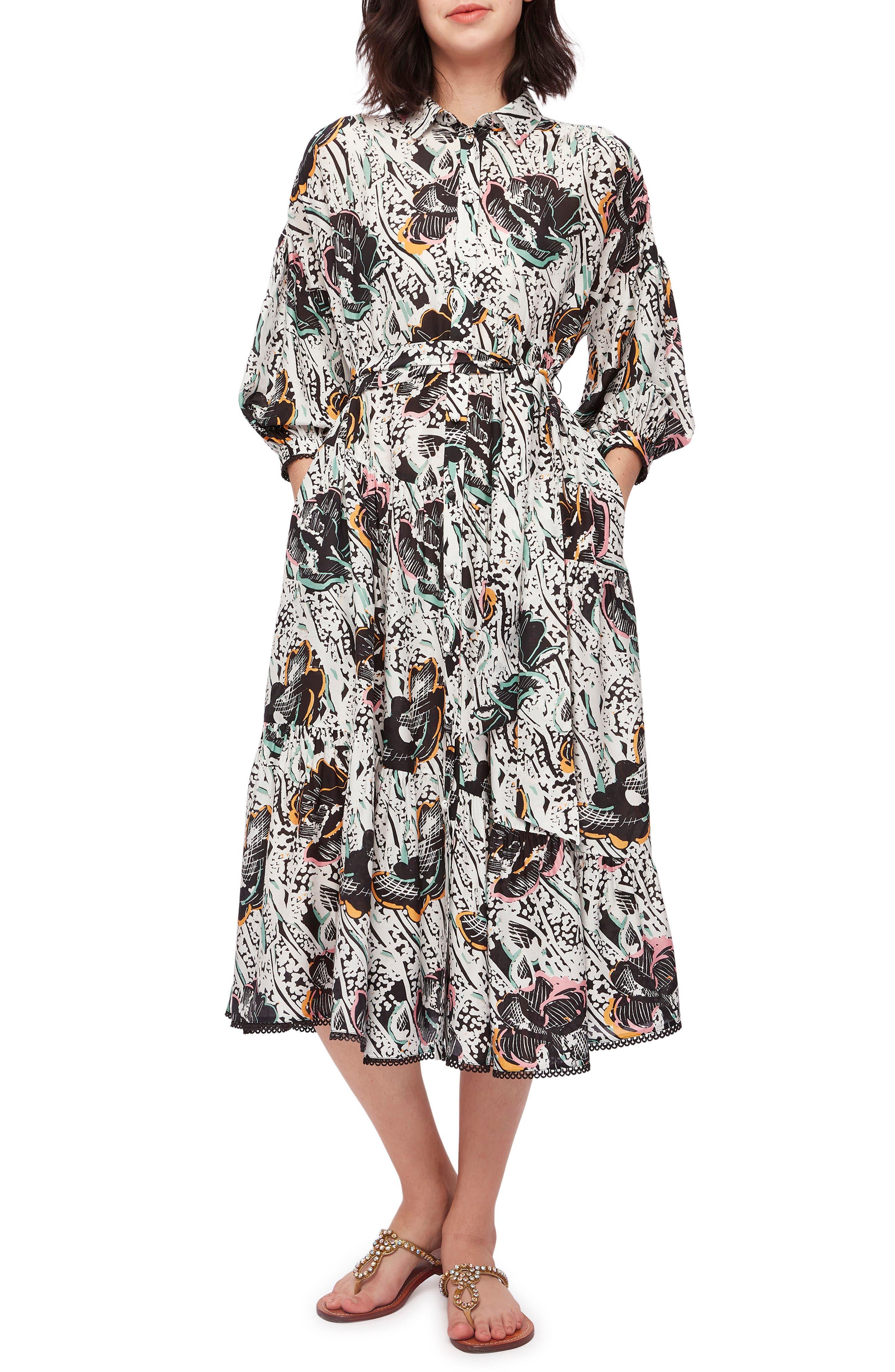 Luna Floral Long Sleeve Shirtdress