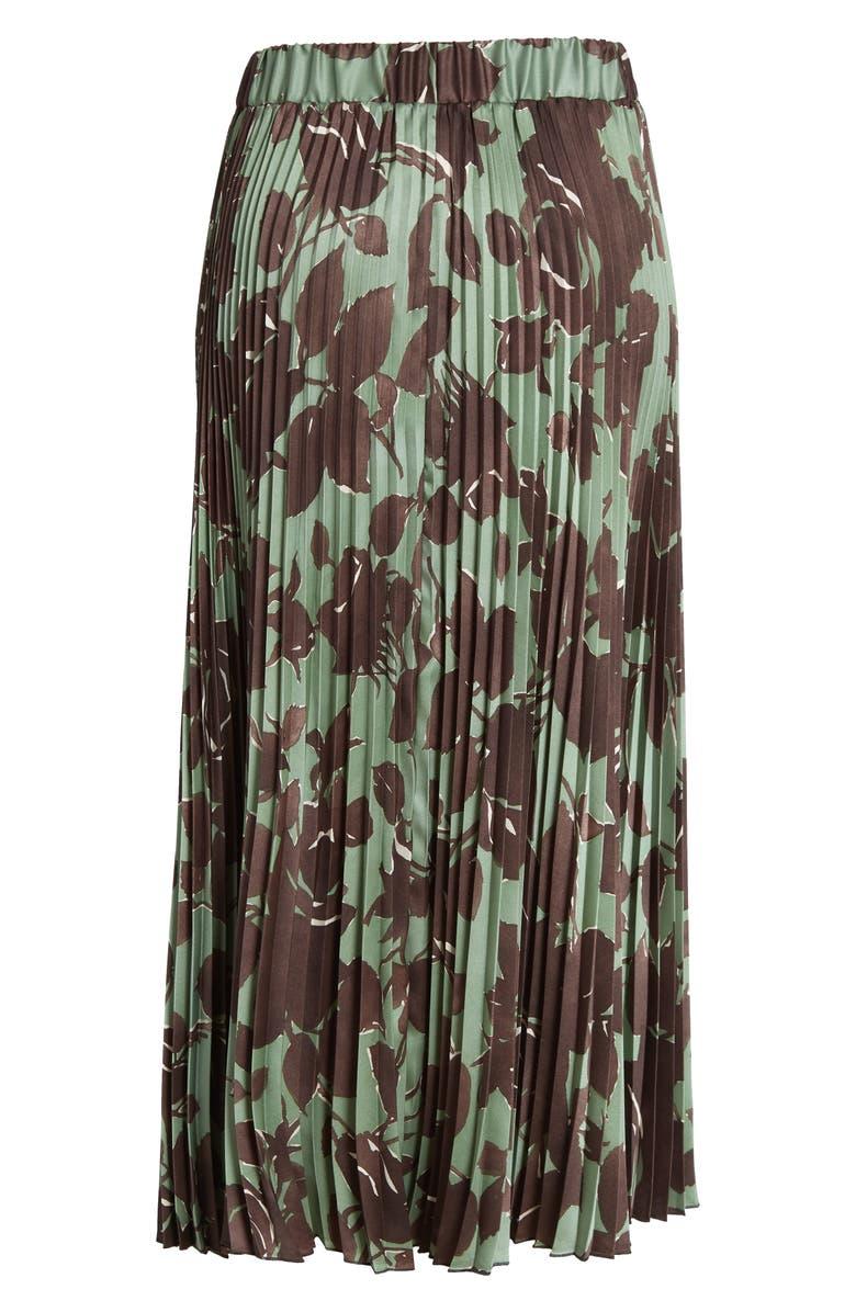 SEVENTY VENEZIA Pleated Print Midi Skirt, Main, color, 311