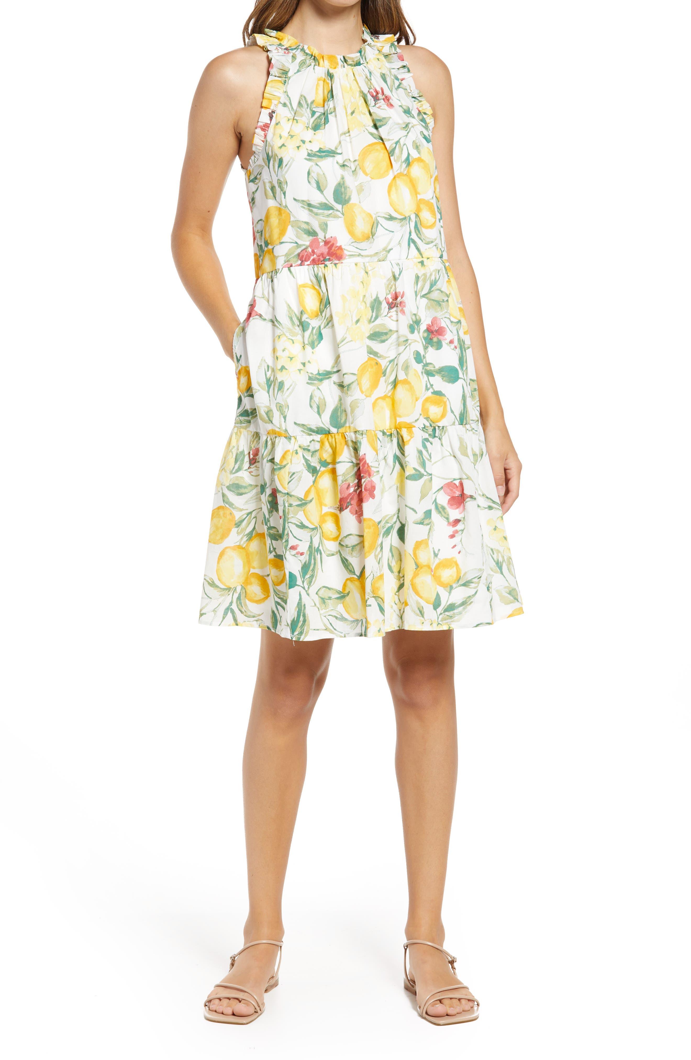 Lemon Print Cotton Sundress